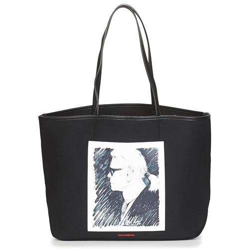 Bags Shopper bags Karl Lagerfeld KARL LEGEND CANVAS TOTE Black