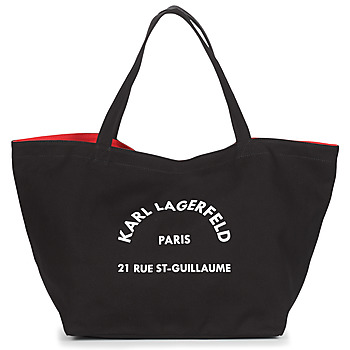 Bags Women Shopper bags Karl Lagerfeld RUE ST GUILLAUE CANVAS TOTE Black