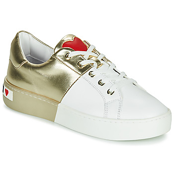 Shoes Women Low top trainers Love Moschino BI-COLOR SHOES White / Gold