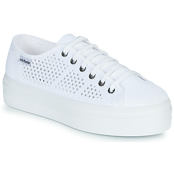 Shoes Women Low top trainers Victoria BARCELONA TRICOT White