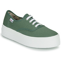 Shoes Women Low top trainers Victoria DOBLE LONA Green