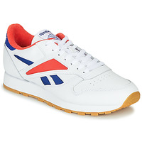 Shoes Men Low top trainers Reebok Classic CL LEATHER MARK Grey / White / Red