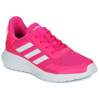 Shoes Girl Low top trainers adidas Performance TENSAUR RUN K Pink / White