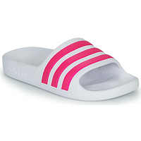 Shoes Girl Sliders adidas Performance ADILETTE AQUA K White / Pink