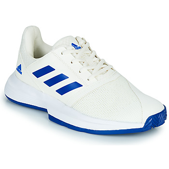 Shoes Children Tennis shoes adidas Performance COURTJAM XJ White / Blue