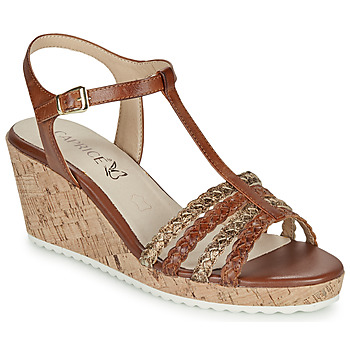 Shoes Women Sandals Caprice POUDALLE Cognac