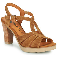 Shoes Women Sandals Mam'Zelle TIMBA Cognac