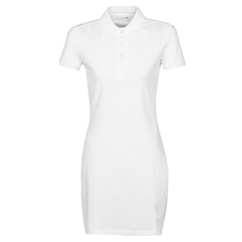 material Women Short Dresses Lacoste EUGENIE White