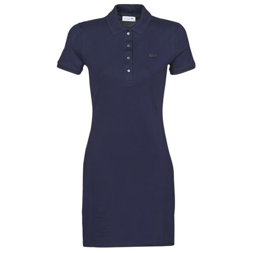 material Women Short Dresses Lacoste SOLENE Marine