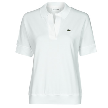 material Women short-sleeved polo shirts Lacoste BERRY White