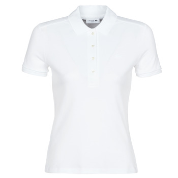 material Women short-sleeved polo shirts Lacoste ADRIANNO White