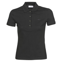 material Women short-sleeved polo shirts Lacoste PH5462 SLIM Black