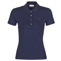 material Women short-sleeved polo shirts Lacoste PH5462 SLIM Marine