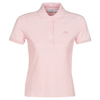 material Women short-sleeved polo shirts Lacoste PH5462 SLIM Pink