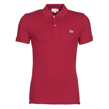 material Men short-sleeved polo shirts Lacoste PH4012 SLIM Bordeaux