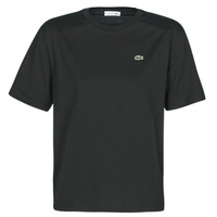material Women short-sleeved t-shirts Lacoste  Black