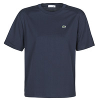 material Women short-sleeved t-shirts Lacoste  Marine