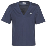material Women short-sleeved t-shirts Lacoste BONFICACE Marine
