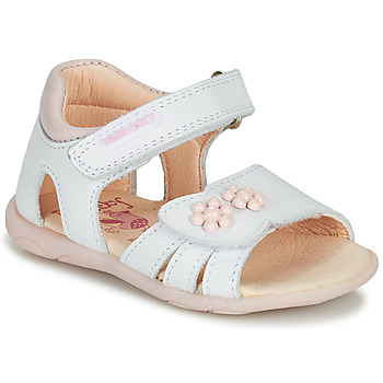 Shoes Girl Sandals Pablosky SONNA White / Pink