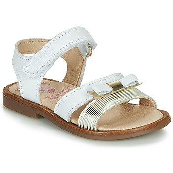 Shoes Girl Sandals Pablosky LOLLA White / Gold