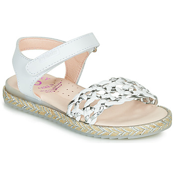 Shoes Girl Sandals Pablosky MINNA White / Silver