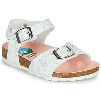 Shoes Girl Sandals Pablosky SATTO White / Silver