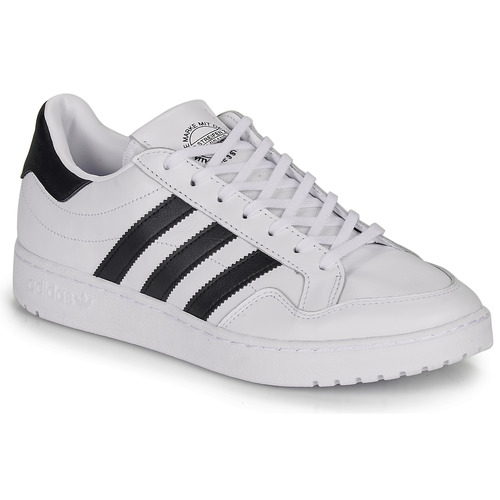 leggero Filo Reporter  adidas Originals MODERN 80 EUR COURT White / Black - Fast delivery |  Spartoo Europe ! - Shoes Low top trainers 79,95 €