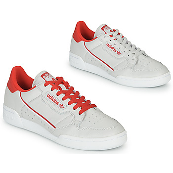 Shoes Low top trainers adidas Originals CONTINENTAL 80 Beige / Red