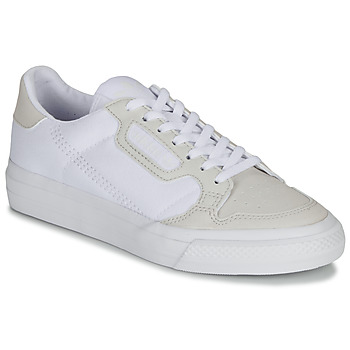 Shoes Children Low top trainers adidas Originals CONTINENTAL VULC J White / Beige