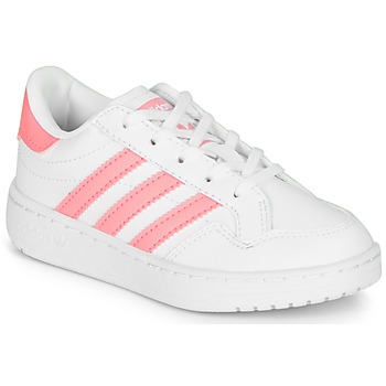 Shoes Girl Low top trainers adidas Originals Novice C White / Pink