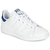 Shoes Children Low top trainers adidas Originals STAN SMITH C White / Blue