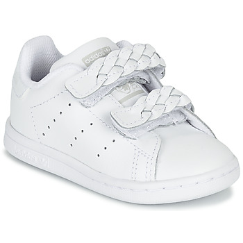 Shoes Girl Low top trainers adidas Originals STAN SMITH CF I White