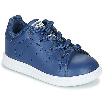 Shoes Boy Low top trainers adidas Originals STAN SMITH EL I Marine