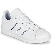 Shoes Children Low top trainers adidas Originals STAN SMITH J White / Blue