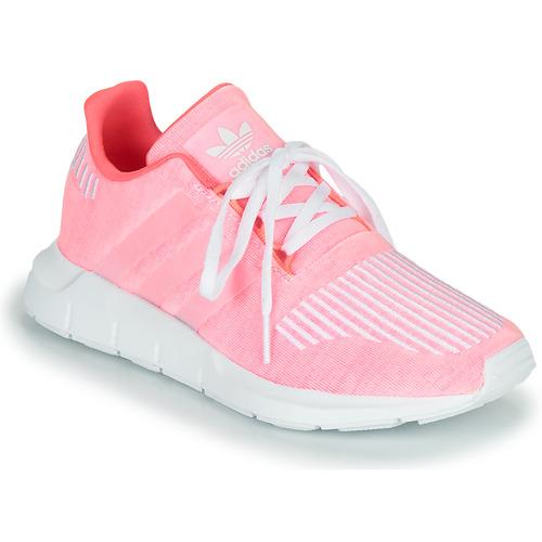 adidas Originals SWIFT RUN J Pink - Fast delivery | Spartoo Europe ...
