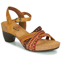Shoes Women Sandals Think TRAUDI Yellow / Red