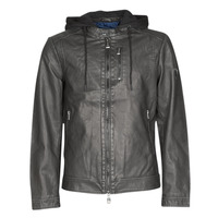 material Men Leather jackets / Imitation leather Guess VINTAGE ECO-LEATHER JKT Black