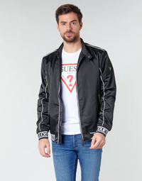 material Men Blouses Guess ICONIC LOGO JKT Black