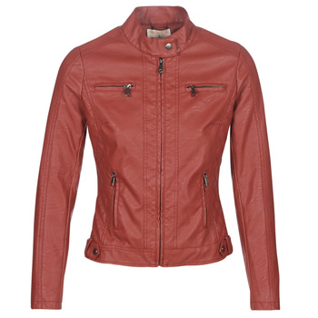 material Women Leather jackets / Imitation leather Moony Mood AW075-ROUGE Red