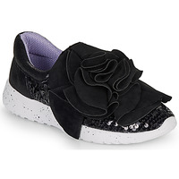 Shoes Women Low top trainers Irregular Choice RAGTIME RUFFLES Black