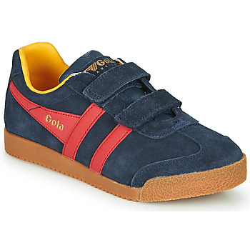 Shoes Children Low top trainers Gola HARRIER VELCRO Blue / Red