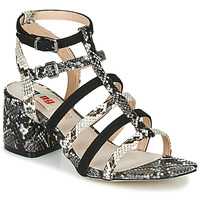 Shoes Women Sandals MTNG  Python / Black