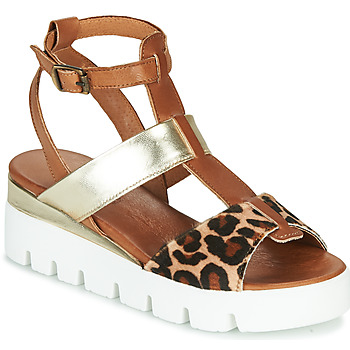 Shoes Women Sandals Sweet Lemon SCOOPA Cognac / Leopard