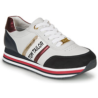 Shoes Women Low top trainers Tom Tailor  White / Blue / Red