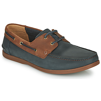 Shoes Men Derby shoes Clarks PICKWELL SAIL Marine / Brown