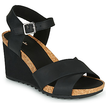 Shoes Women Sandals Clarks FLEX SUN Black