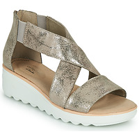 Shoes Women Sandals Clarks JILLIAN RISE Silver