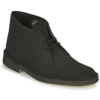 Shoes Men Mid boots Clarks DESERT BOOT Black
