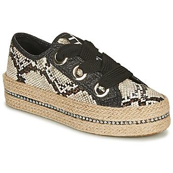 Shoes Women Espadrilles Tosca Blu TAHITI Black / Python