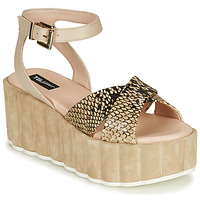 Shoes Women Sandals Tosca Blu MOOREA Beige / Python